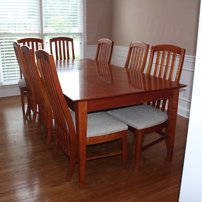 Wood Dining Table And Chairs By Thomasville
