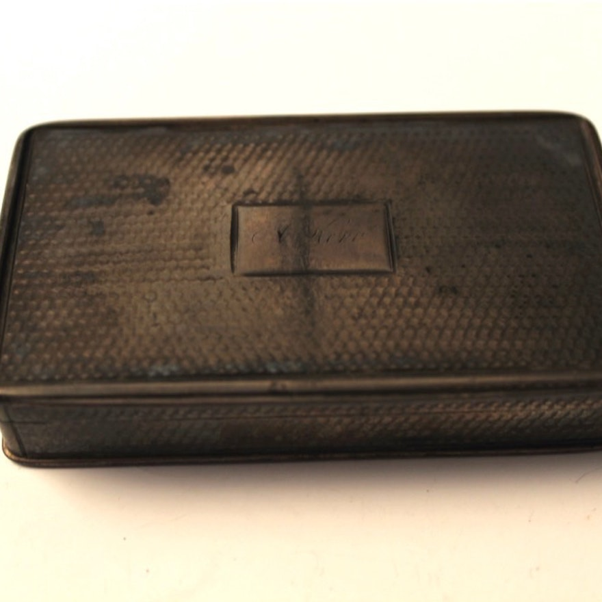 19th Century English Sterling Business Card Holder : EBTH
