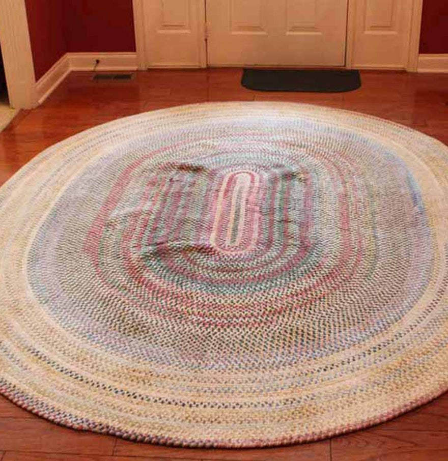 Used Oval Braided Rugs
