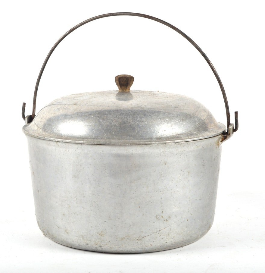 Large Vintage Majestic Cookware Aluminum Dutch Oven Pot : EBTH