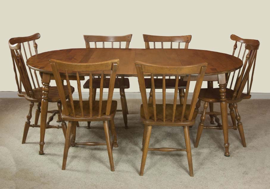 vintage maple dining room table and chairs ebth