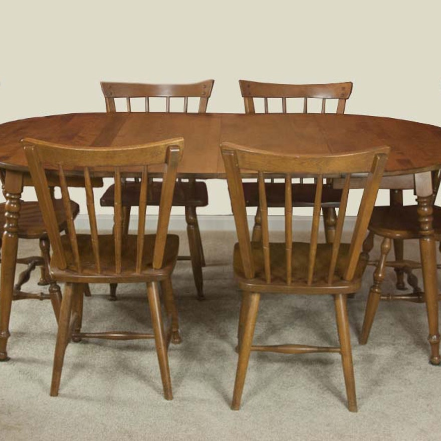 Retro Dining Room Chairs: Vintage Maple Dining Room Table And Chairs