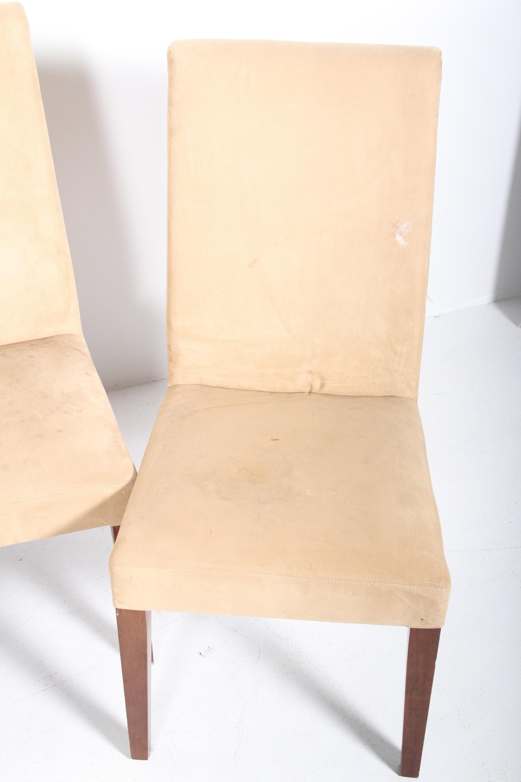Pottery Barn Microfiber Parson S Chairs Ebth