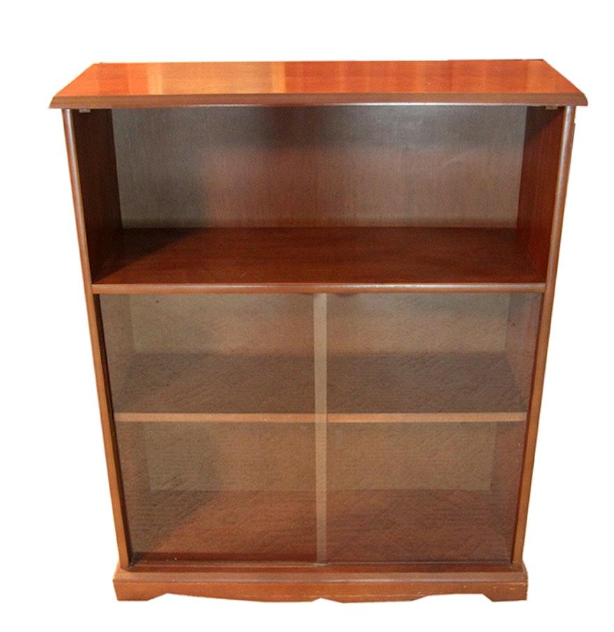 bookcase with sliding glass doors ebth. Black Bedroom Furniture Sets. Home Design Ideas
