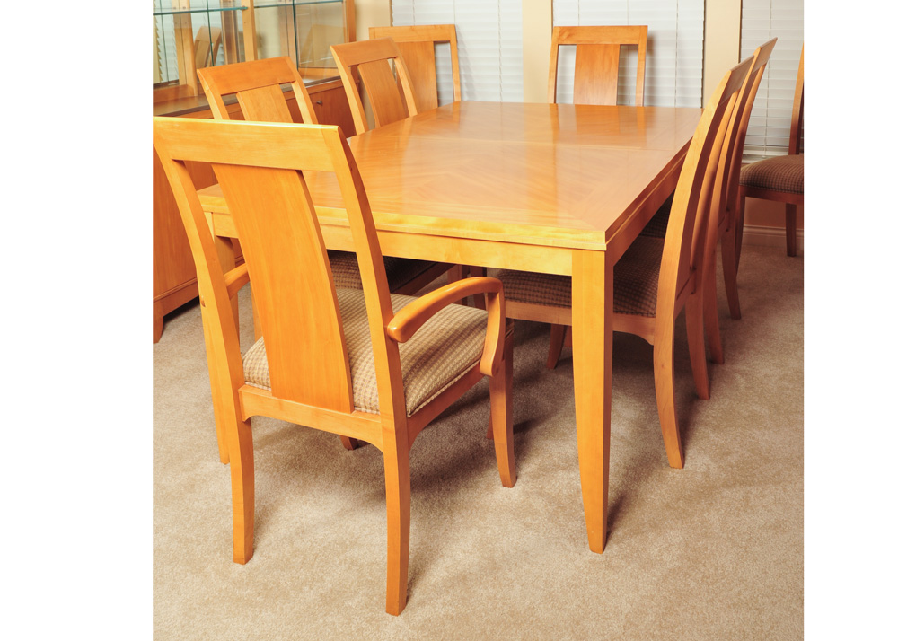 Blonde Ethan Allen Dining Table and ChairsEBTH