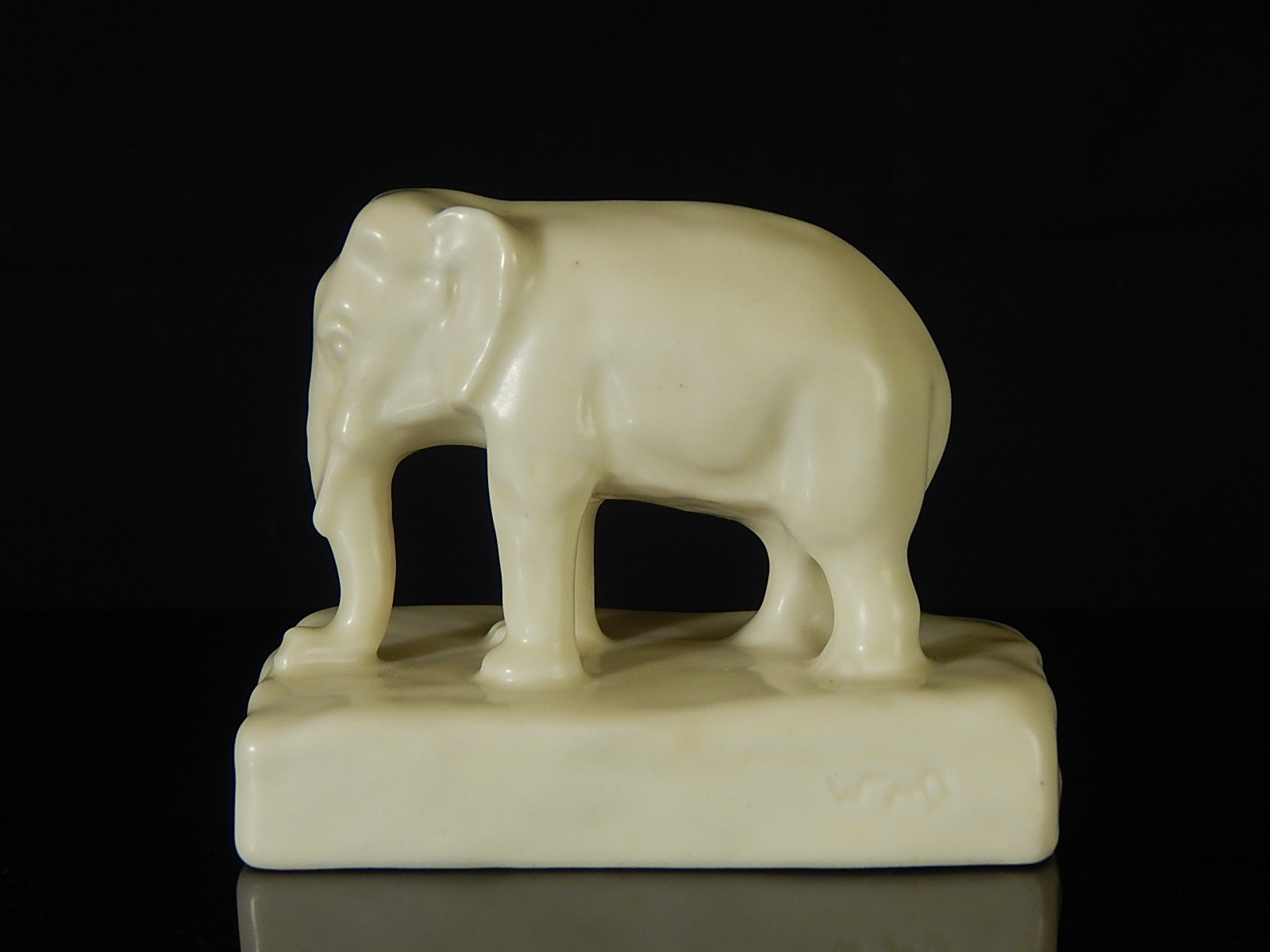 1931 Rookwood Pottery White Elephant Figurine ...