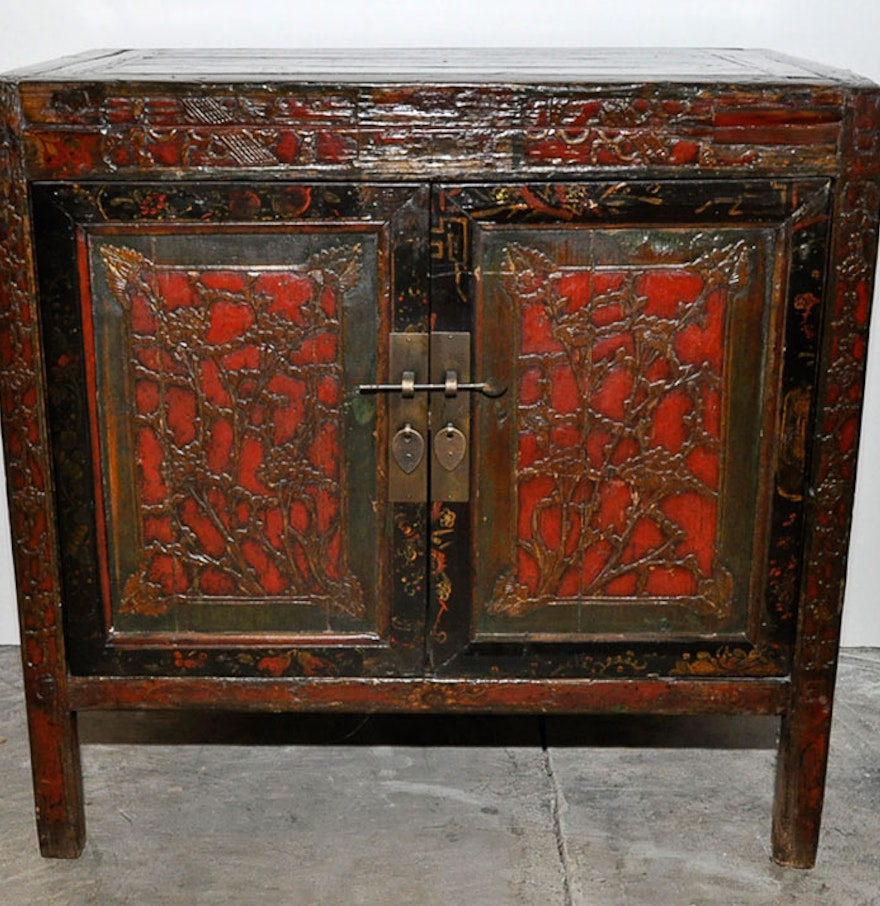 Restored antique asian cabinet ebth for Antique asian cabinet
