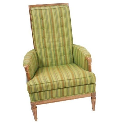 Vintage American of Martinsville High Back Upholstered Armchair - Vintage Chairs, Antique Chairs And Retro Chairs Auction In