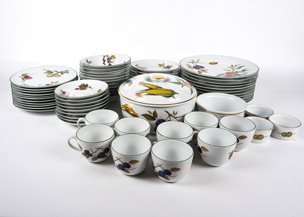 Royal Worcester  Evesham Vale  Dinnerware and  Evesham Gold  ...  sc 1 st  EBTH.com & Royal Worcester