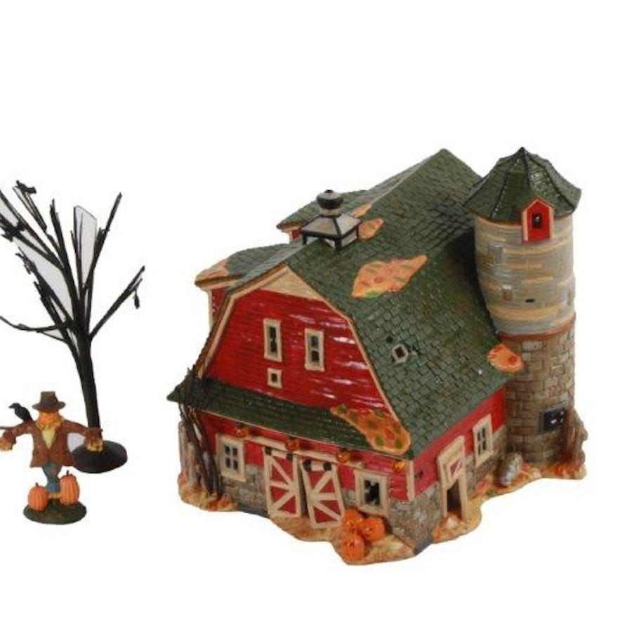 department 56 haunted barn and preparing for halloween village sets - Halloween Barn