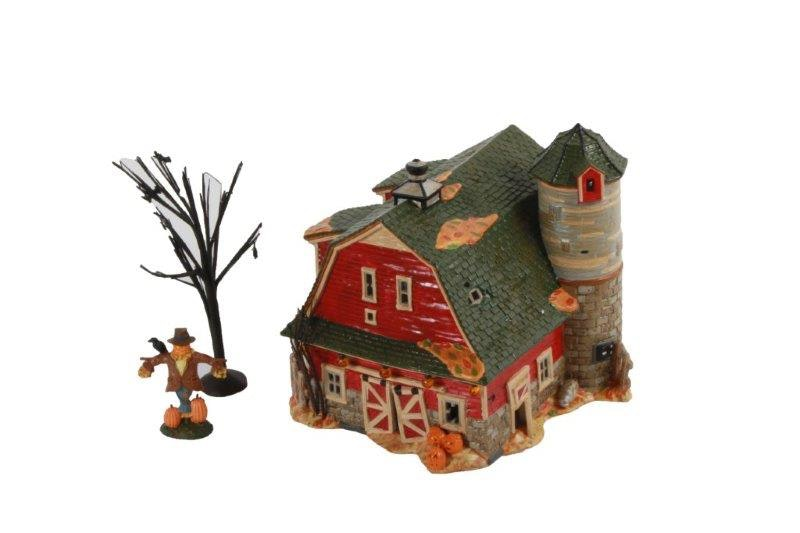 department 56 haunted barn and preparing for halloween village sets
