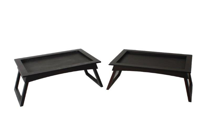 Crate And Barrel Black Breakfast Tray Tables ...