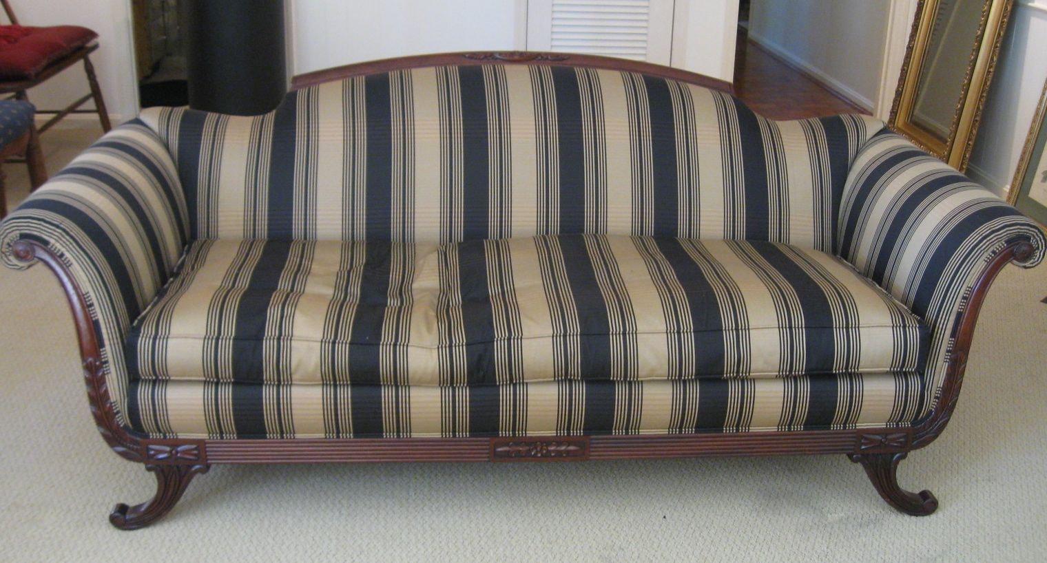 Duncan Phyfe Empire Style Sofa ...
