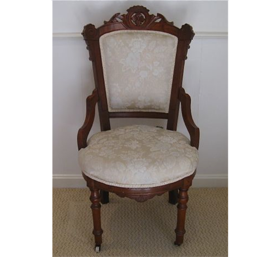 Antique Upholstered Eastlake Chair ... - Antique Upholstered Eastlake Chair
