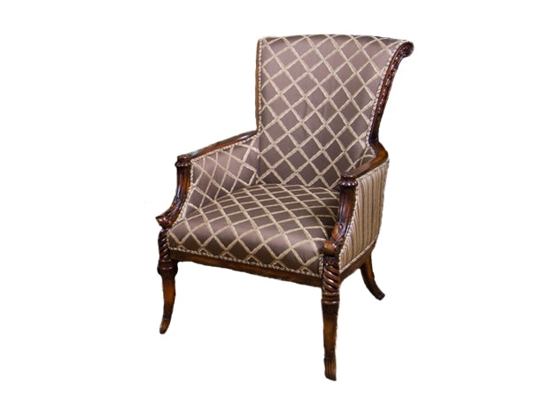 Regency Style Library Chair With Quatrefoil Pattern ...