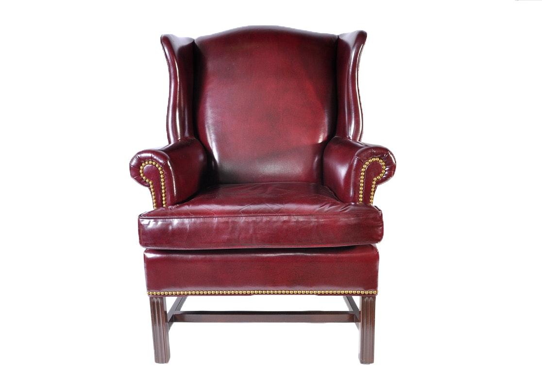 hancock u0026 moore leather wingback chair