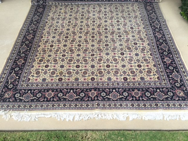 Chinese Hand Knotted Persian Tabriz Design Area Rug Ebth