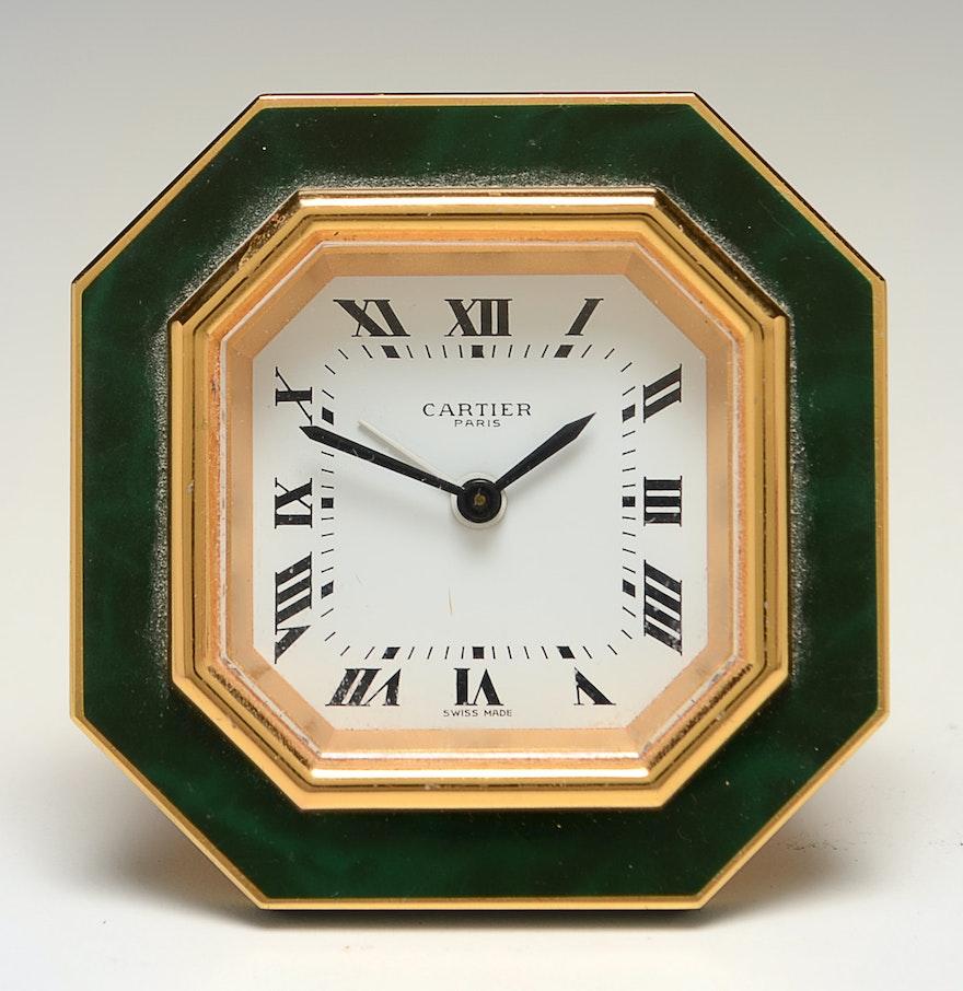 Cartier desk alarm clock ebth cartier desk alarm clock amipublicfo Images