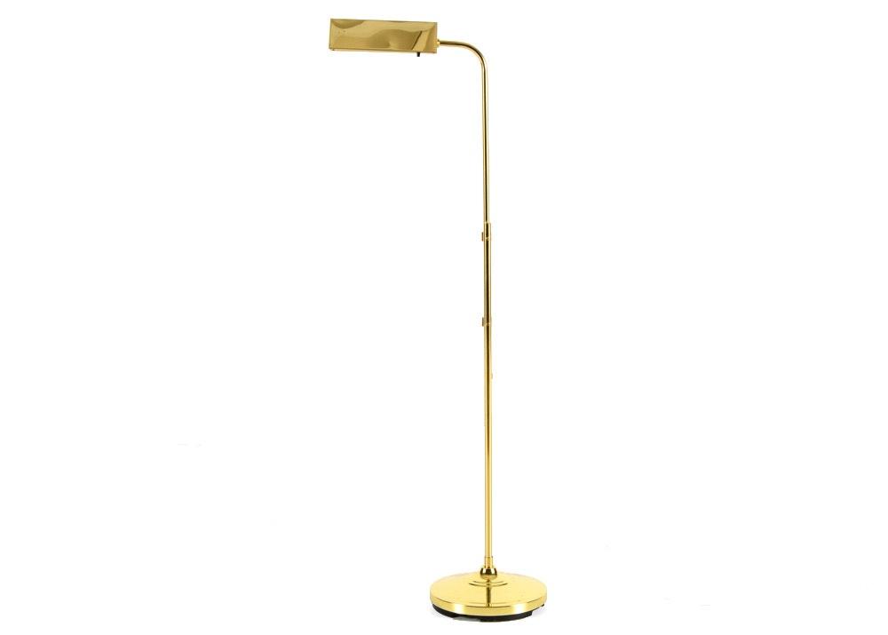 cresswell ltd brass pharmacy floor lamp adjustable and portable