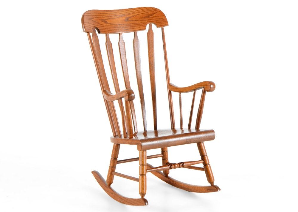 Vintage Tell City Chair Company Maple Rocking Chair Boston