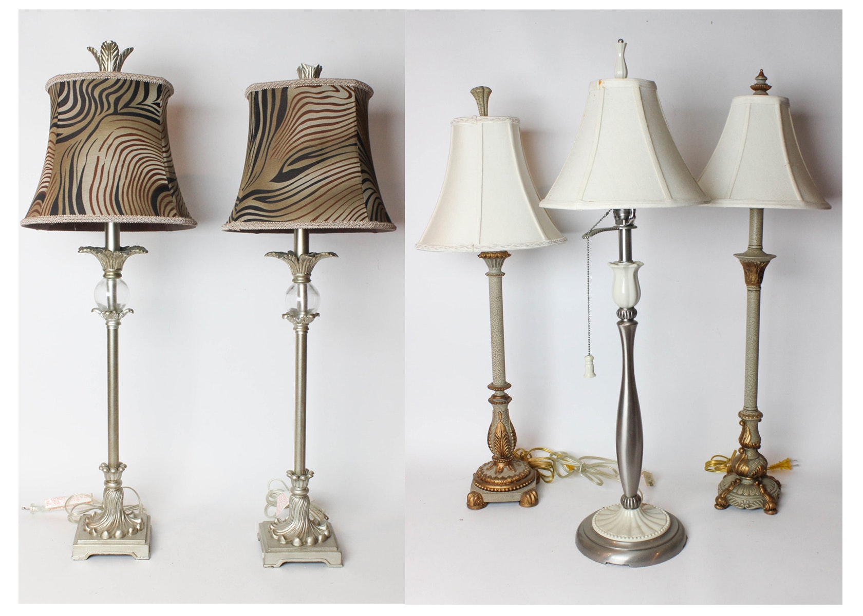 lenox porcelain table lamp and buffet lamps