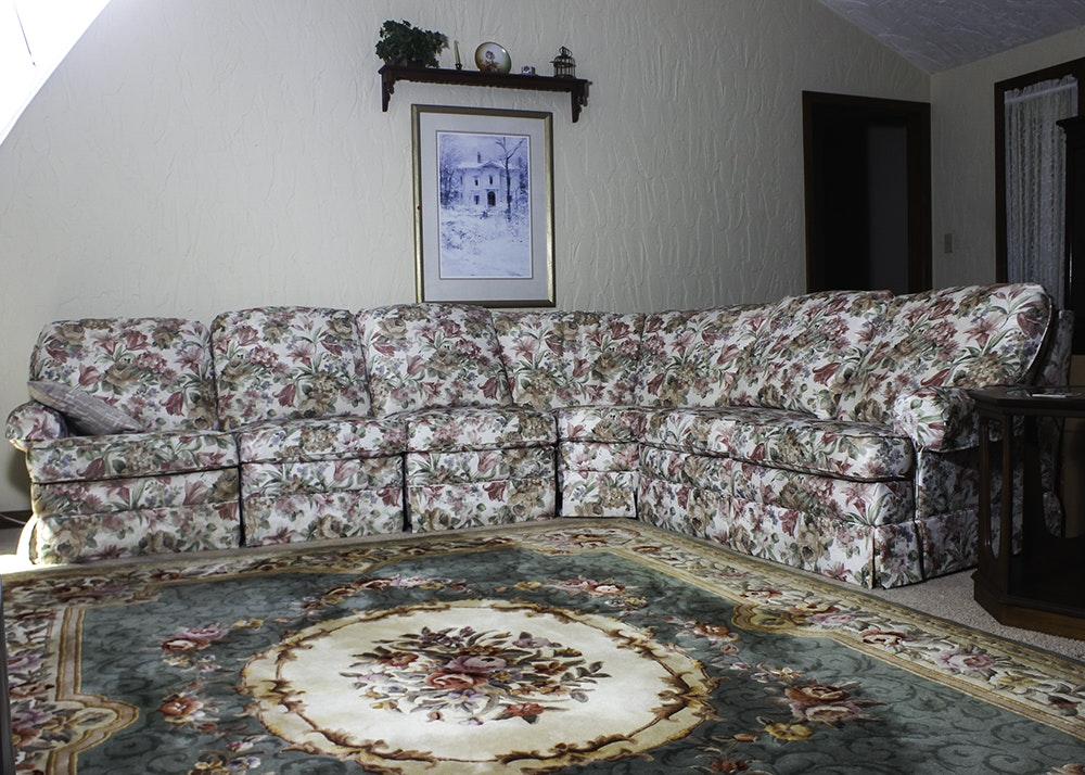 Floral Print Sectional Sofa ...