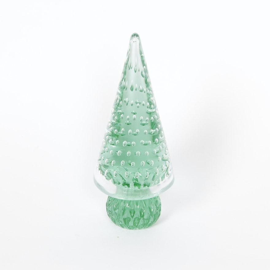 Vintage murano glass christmas tree ebth