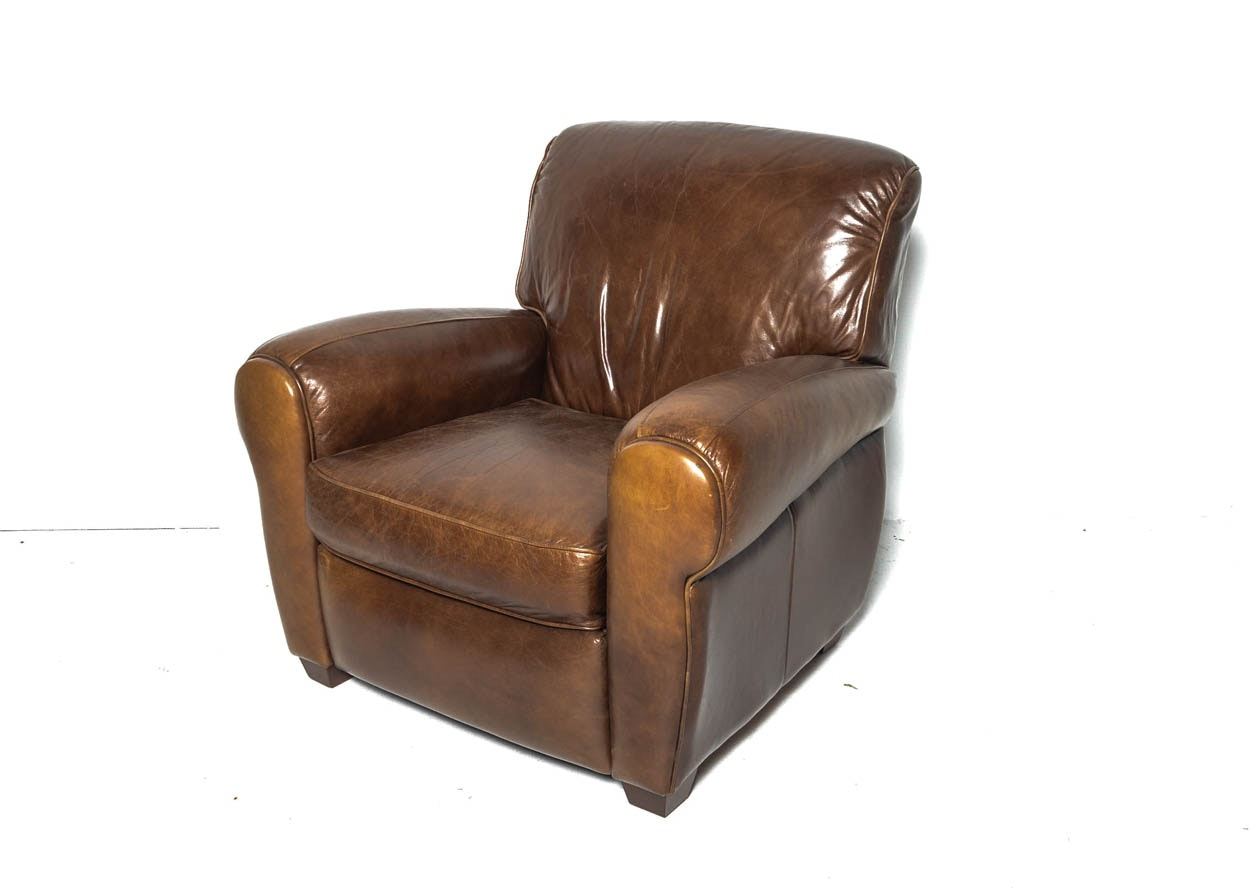 Mitchell Gold Brown Leather Recliner Ebth