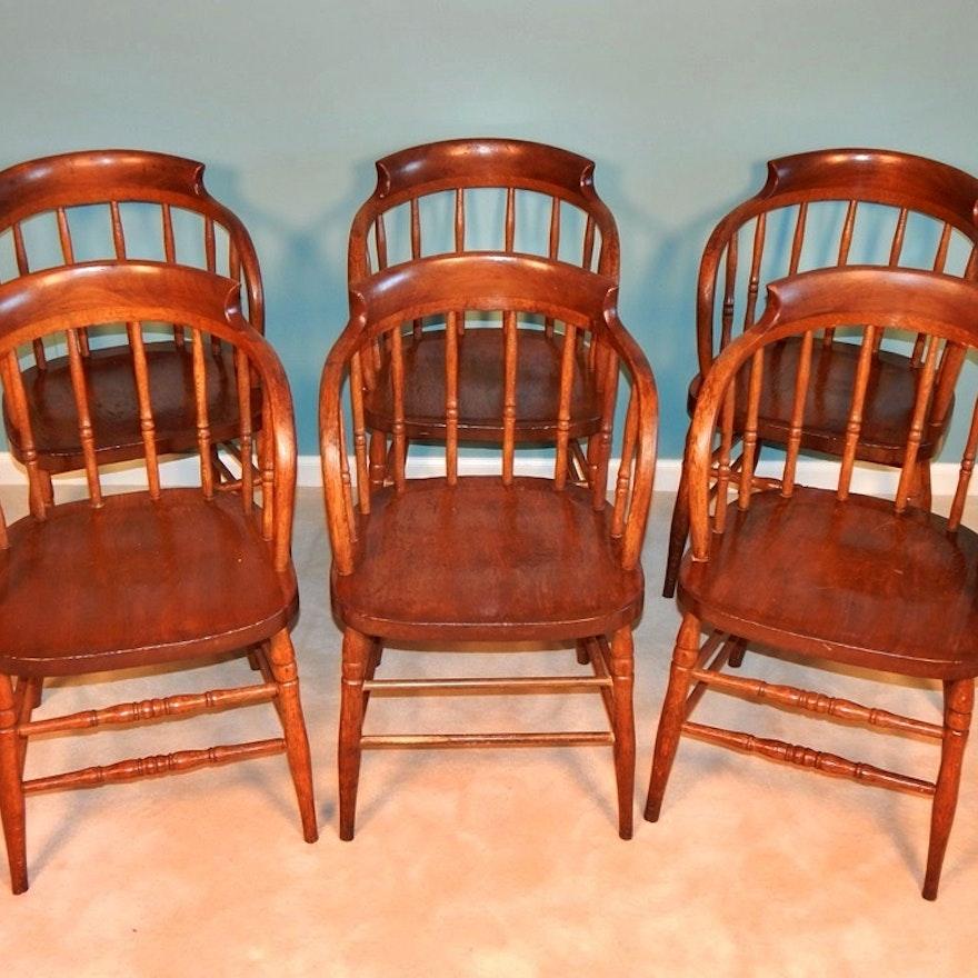 Antique Barrel Back Tavern Chairs ... - Antique Barrel Back Tavern Chairs : EBTH