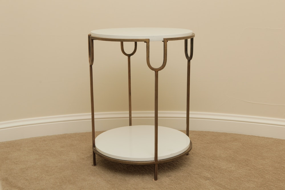 Hollywood Regency Side Table ...
