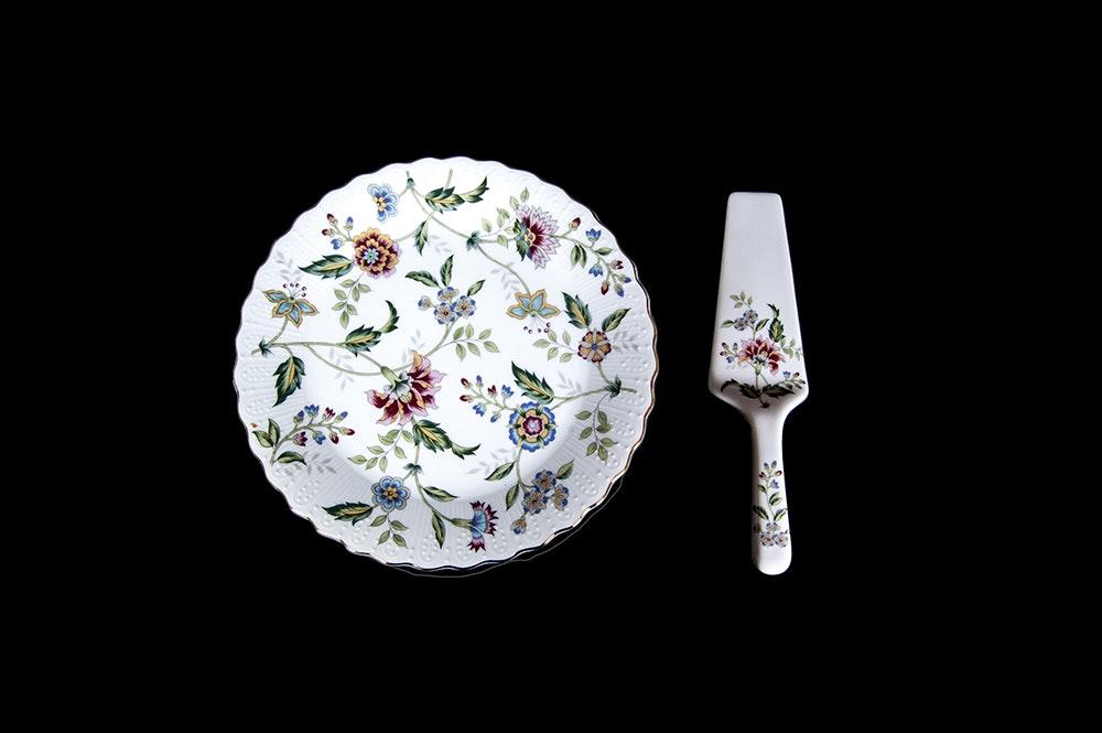 Andrea by Sadek  Buckingham  Cake Plate ... & Andrea by Sadek