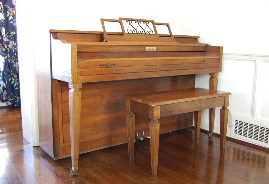 Currier Console Piano And Bench ...