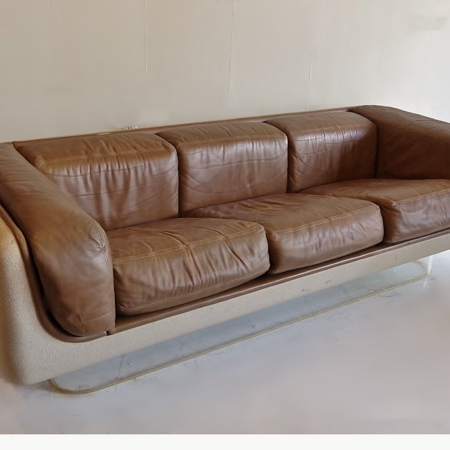 Curved Floating Sofa: Floating Sofa Mid Century Modern Floating Chrome Sofa In