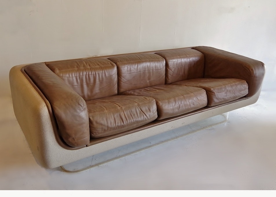 Steelcase U0027Soft Seatingu0027 Vintage Floating Sofa Warren Platner ...