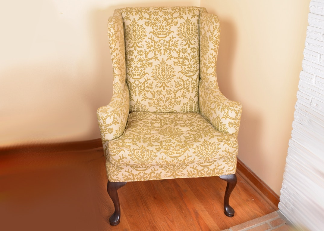 Hickory Chair Queen Anne Wingback Chair ...