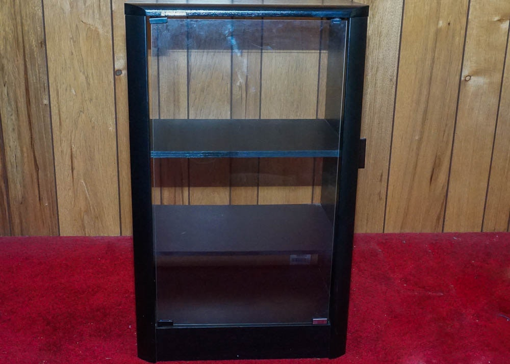 Pioneer Black And Glass Stereo Cabinet ...