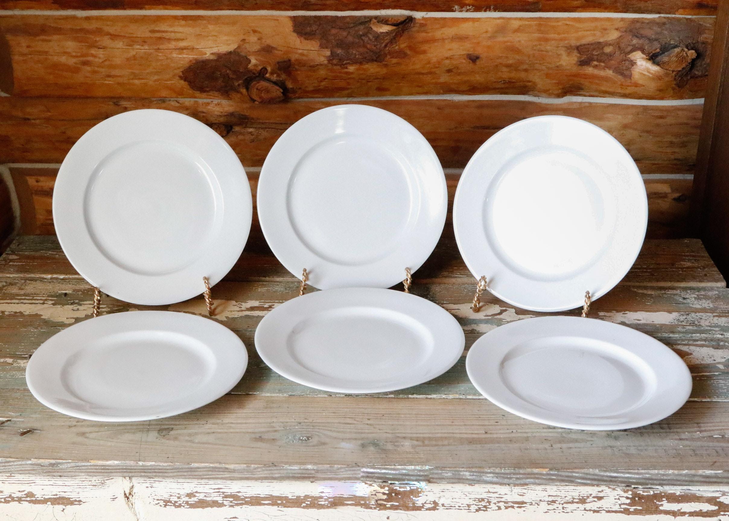Six Delco Ceramicor Porcelain Dinner Plates ... & Six Delco Ceramicor Porcelain Dinner Plates : EBTH