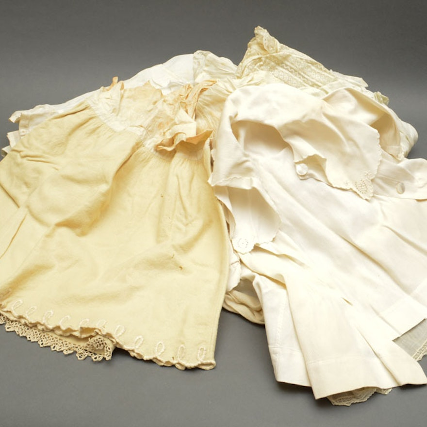 Assortment of Antique Gowns and Girl\'s Dresses : EBTH
