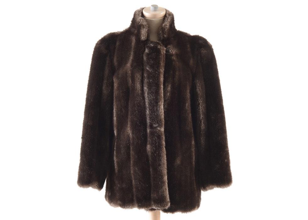 1970s Vintage Hillmoor Of New York Faux Fur Coat Ebth