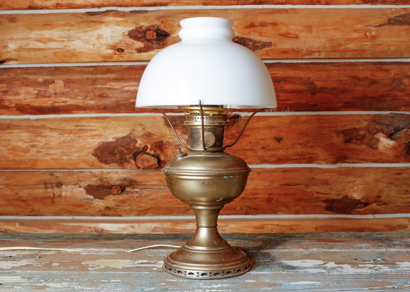 Victorian Auto Sales >> Mantle Lamp Co. Aladdin Model No. 12 Converted Oil Lamp | EBTH