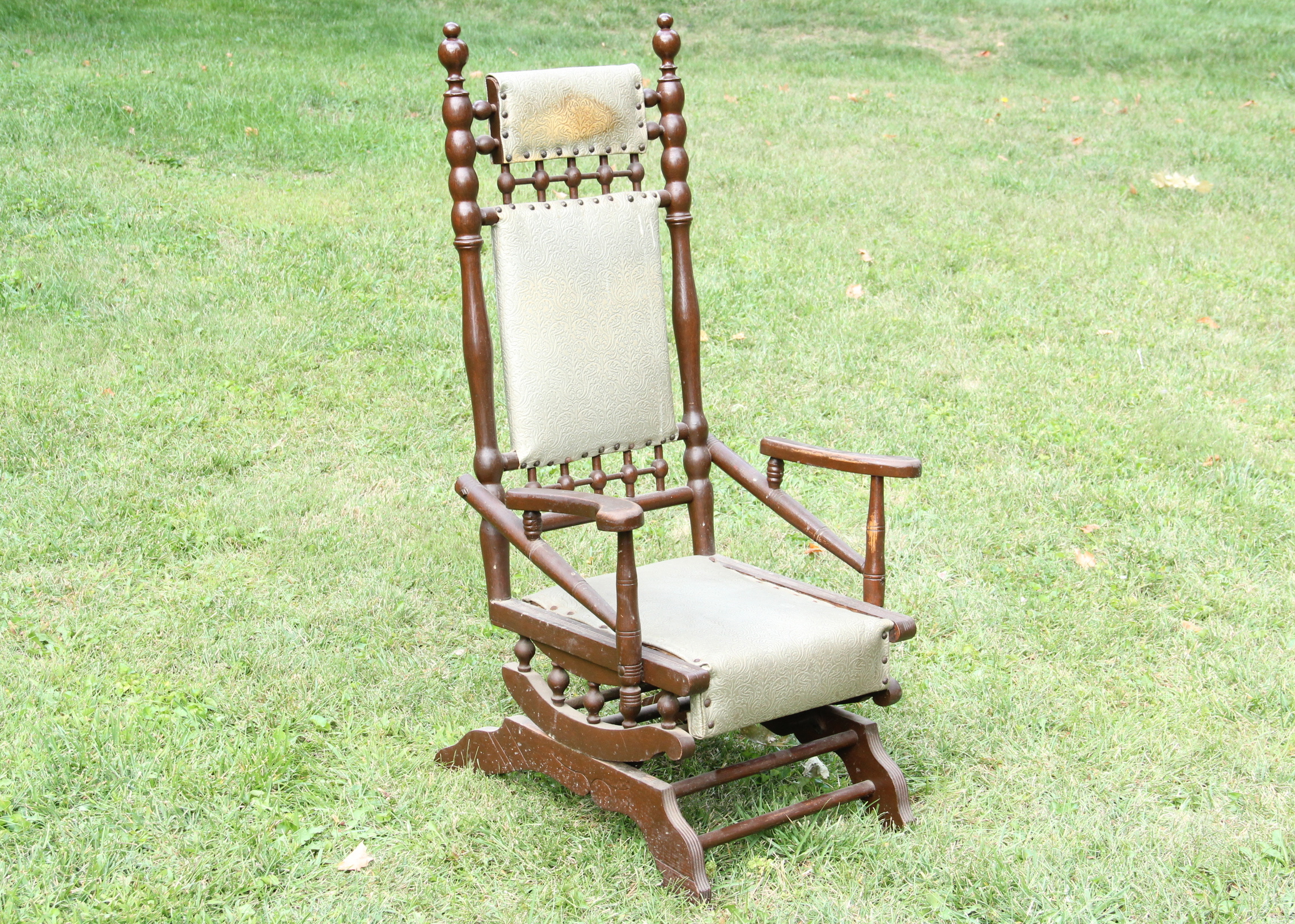 antique spring rocking chair Antique Renaissance Revival Spring Rocking Chair : EBTH antique spring rocking chair