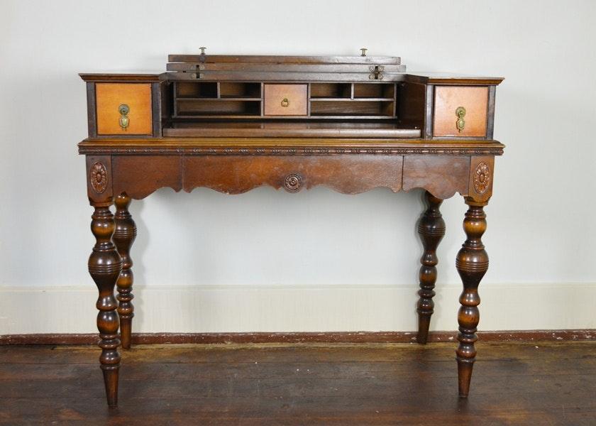 Antique Flip Top Desk Antique Furniture