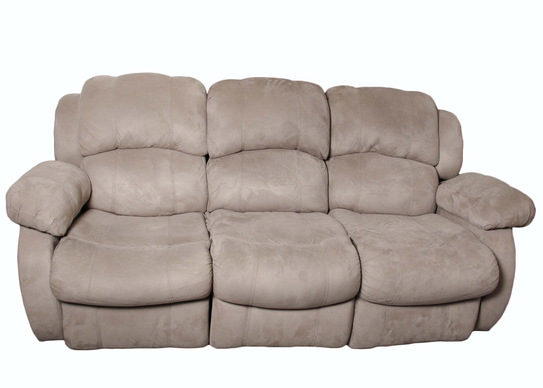 microfiber double reclining couch