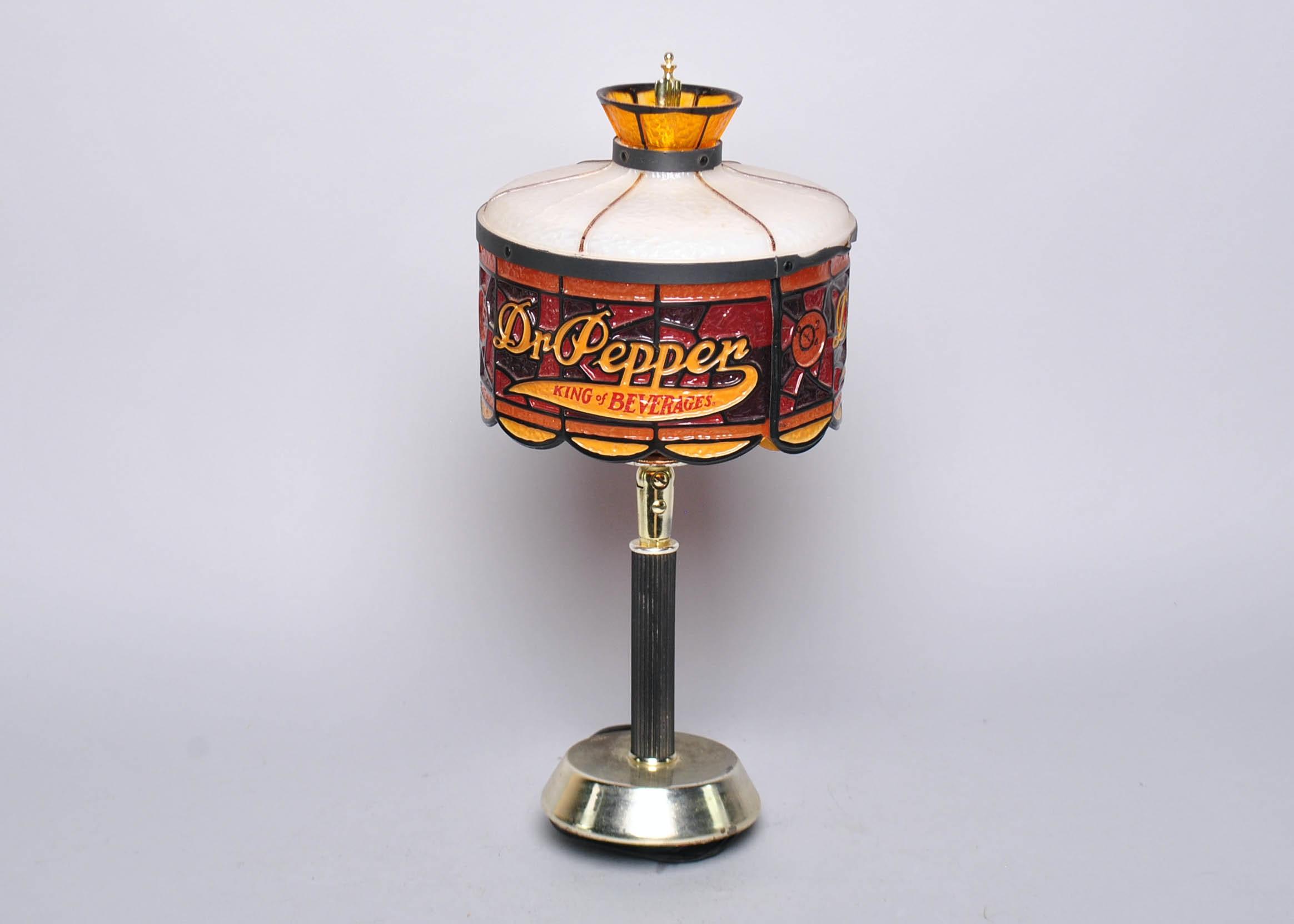 Vintage Dr. Pepper Table Lamp ...