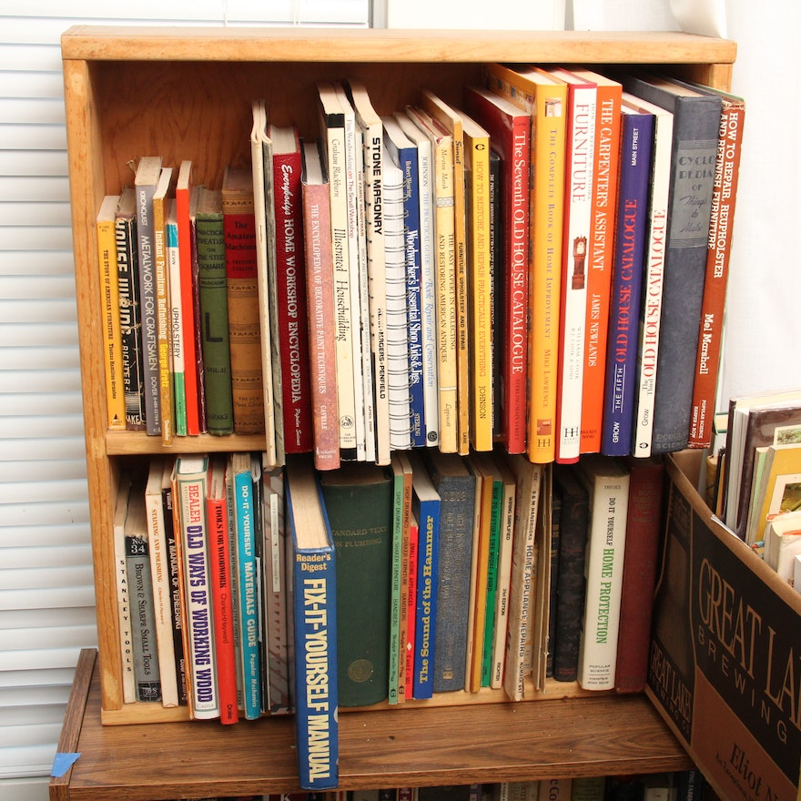 Collection of home repair books and shelf ebth collection of home repair books and shelf solutioingenieria Images