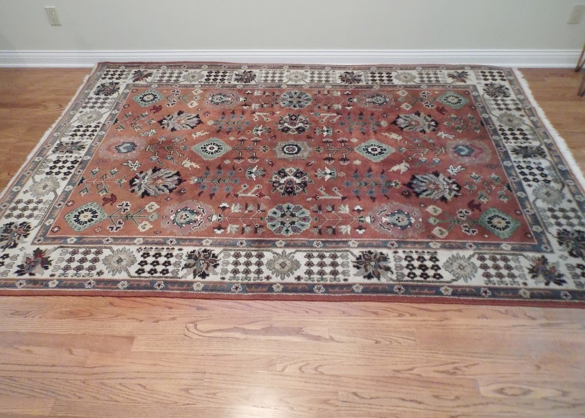 6X9 Hand Knotted Indian Mughal Rug