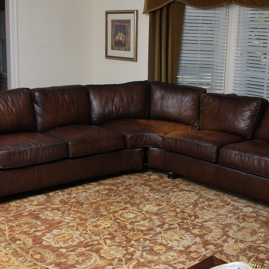 Bernhardt Leather Sectional Sofa Ebth