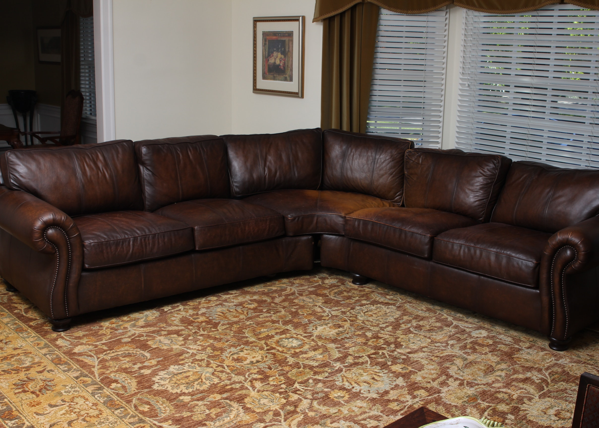Bernhardt Leather Sectional Sofa ...