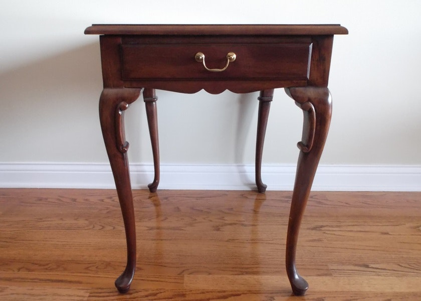 Hickory Chair Company Queen Anne Style Side Table ...