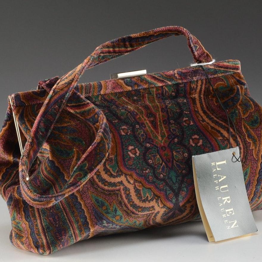 feda44c40e Ralph Lauren Paisley Velvet Evening Bag   EBTH